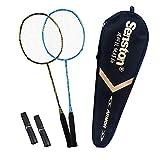 Senston S300 100% Graphit Badminton Set Carbon Badmintonschläger Graphit Badminton Schläger mit Schlägertasche - 3 Farbe