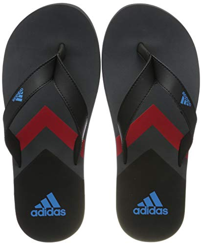 adidas Herren Eezay Flip Flop Dusch- & Badeschuhe, Schwarz Core Black/Shock Cyan/Grey Six, 44.5 EU