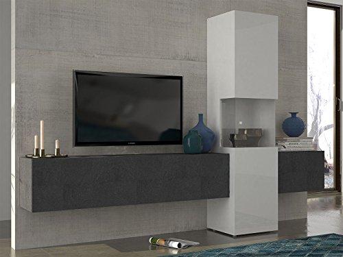 Wohnwand Mediawand Wohnzimmerschrank Fernsehschrank TV Schrank 'Incontro I'