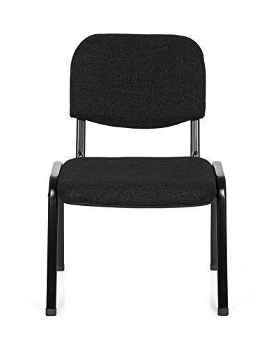 hjh OFFICE Konferenzstuhl Besucherstuhl XT 600 XL Stoff, extra breite Sitzfläche, ergonomischer Vierfußstuhl, Rückenlehne, stapelbar, bis 150 Kg (grau)