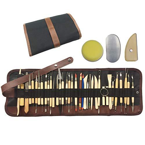 Wartoon 38Pack Sculpting Tools mit wiederverwendbarem Beutel für Keramik-Kunsthandwerk aus Ton