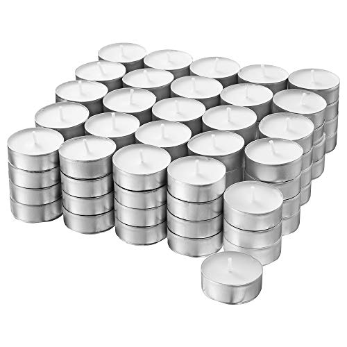 Ikea GLIMMA Teelichter ohne Duft, Weiß, 100Zählen