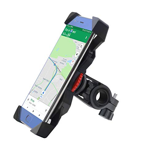 FEYG Handyhalterung Fahrrad,Universal Fahrrad Handyhalterung 360°Drehbare Handyhalter Fahrräder GPS Für 3,5-6,5 Zoll Smartphone GPS Andere Geräte Anti-Shake Fahrradzubehö