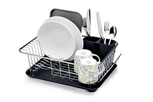 Kitchen Craft Abtropfgestell mit Abtropfschale, 42x 30,5x 15,5cm (41,9x 30,5x 15,2cm)