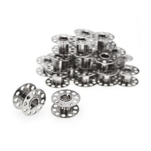 25 Spulen leer für die Nähmaschine / Nähmaschinenspulen aus Metall