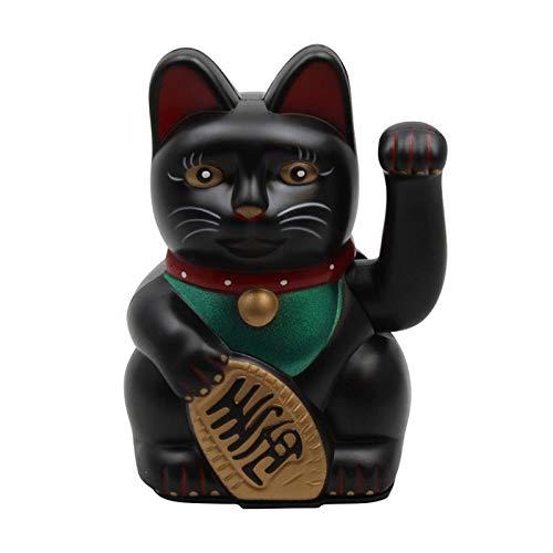 Superfreak Glückskatze - Winkekatze - 13 cm - schwarz