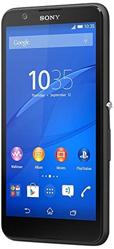 Sony Xperia E4 Smartphone (12,7 cm (5 Zoll) IPS-Display, 1,3 GHz-Quad-Core-Prozessor, 5 Megapixel-Kamera, Android 4.4) Schwarz