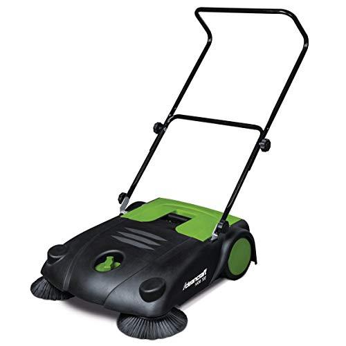 Stürmer Cleancraft 7304007 Cleancraft Handkehrmaschine mit zwei Seitenbesen, Arbeitsbreite 70 cm, Kehrgutbehälter 20 l, höhenverstellbar - HKM 700