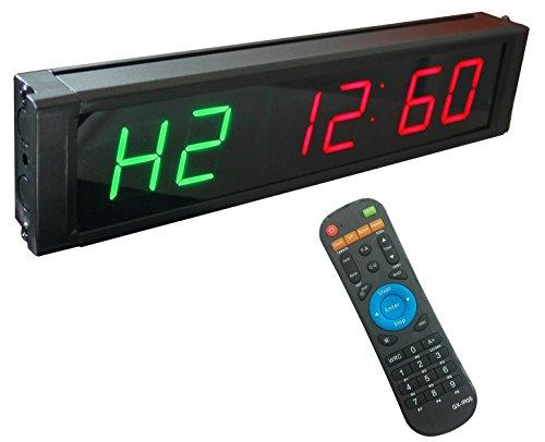 ganxin 2,5cm High 6Ziffern LED Countdown/bis Uhr für Intervall Timer Modi, 12/24-h Real Time Clock, Stoppuhr von Fernbedienung