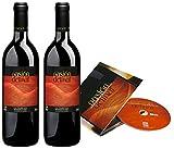 Delinat Bio Wein Weinset Weingeschenk Geschenk Pasión Delinat Rotwein und Musik CD Spanien (2 x 0.75l)