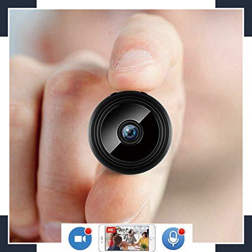 Mini WLAN Kamera,mit Akku und150° Weitwinkel Objektiv Mobile Full HD Nachtsicht und Audio zur schnellen Überwachung Kleine Überwachungskamera Live Stream weltweitem Zugriff per Gratis-App und PC