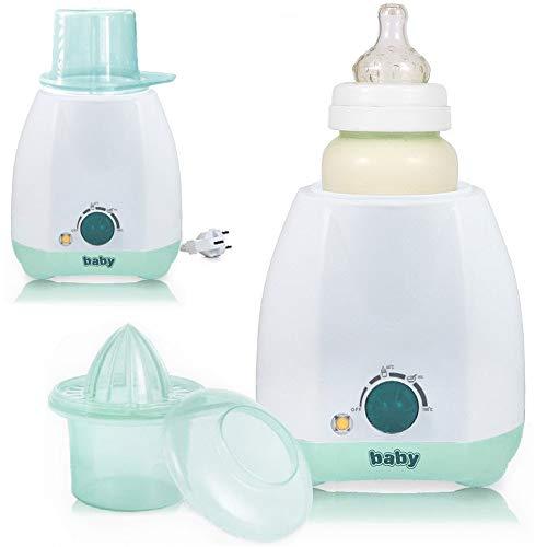 Elektrischer Babykostwärmer Flaschenwärmer für Babyflaschen mit Thermostat und stufenloser Regelung mint