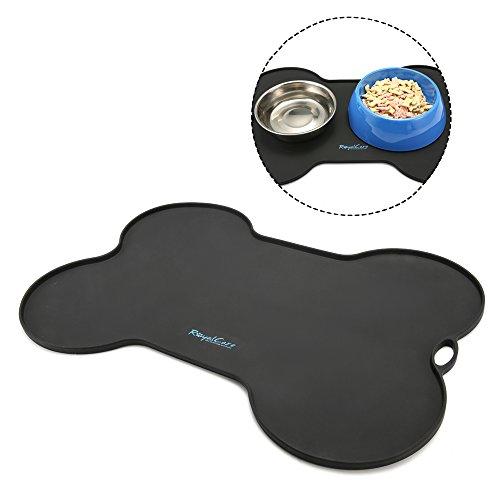 Silikon Futtermatte für Hund, RoyalCare Premium Napfunterlage aus Silikon für Katze oder Hund Rutschfest & Wasserdicht Anti-Rutsch Tiernahrung-Matte