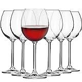 Krosno Rot-Weingläser | Set von 6 | 350 ML | Venezia Kollektion | Perfekt für Zuhause, Restaurants und Partys | Spülmaschinenfest