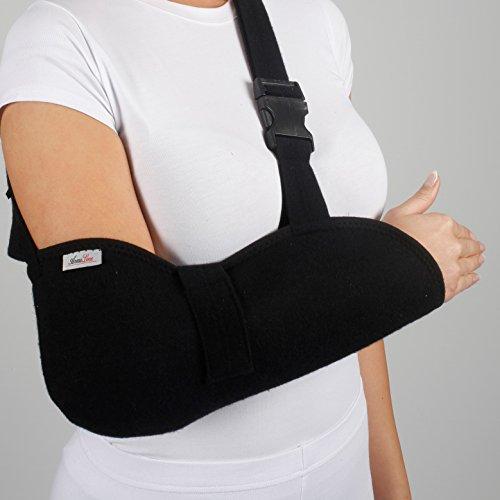 armoline Deluxe Armschlinge atmungsaktives Gewebe für Erwachsene schwarz Broken Arm für defekte Handgelenkbandage Schulter Wegfahrsperre