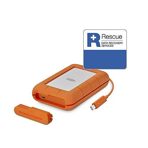 LaCie Rugged 4 TB externe tragbare Festplatte (USB 3.0, USB 3.1, USB-C, Thunderbolt)