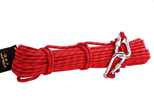 Babimax professionelles Kletterseil Sicherheitsseil (10M) Überleben Rettungsausrüstung unterschiedliche Längen Durchmesser 8mm Nylon Tragegewicht 900kg Wanderung Bergsteigen OutdoorSport Camping