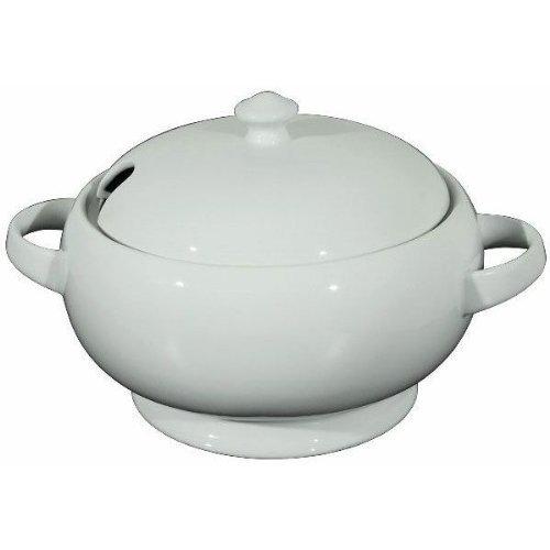 WAS Porzellan - Suppenterrine, Suppenschüssel, Suppentopf, mit Deckel, 2,5 Liter