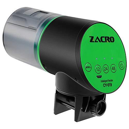 Zacro Automatische Fütterungsvorrichtung, Futterspender Fischfutter,quantitativer Zufuhr des USB AufladeeinheitsFischbehälters Timing