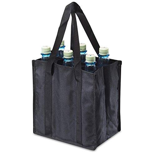 achilles, Bottle-Bag 6er, ADB06bl, Flaschentasche für 6 Flaschen, schwarz, 25 cm x 17 cm x 27 cm