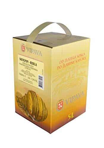 Vipava 1894 Weißwein Bag in Box 5 Liter Cuvee weiß - Sauvignon Rebula Weißwein in Box 5 Liter (5 l)