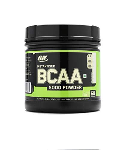 Optimum Nutrition BCAA- Verzweigtkettige Aminosäuren (mit L-Leucin, L-Isoleucin und L-Valin, BCAA Pulver von ON), 60 Portionen, 345g