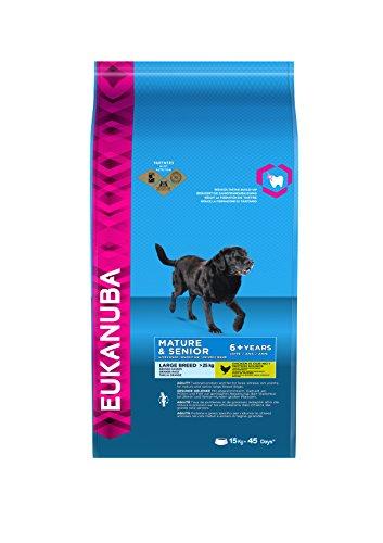 Eukanuba Premium Hundefutter für ältere Hunde größerer Rassen ab 7 Jahre, Trockenfutter mit Huhn (1x15 kg)