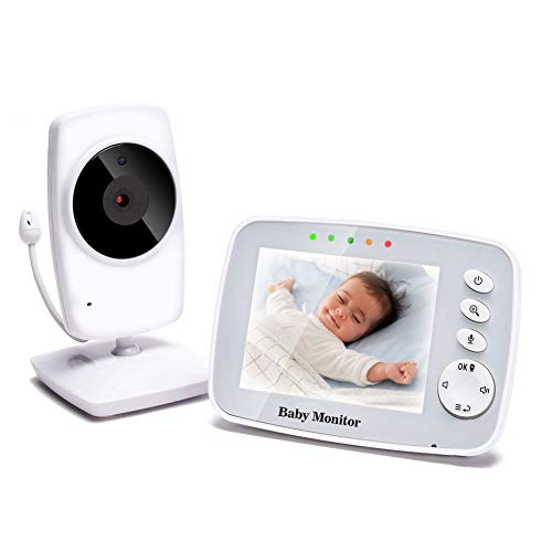 TOPERSUN Baby Phone 3,2-Zoll Baby Monitor 2.4 GHz Baby Kamera mit LCD Nachtsichtkamera HD Digital Video & Bidirektionale Intercom-Funktion