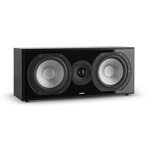 NUMAN Reference 803 • Center Lautsprecher • Center Box • Zwei-Wege Lautsprecher • D'Appolito Anordnung • Aluminium Druckguss Chassis • vergoldete Kontakte • schwarzes Cover • schwarz