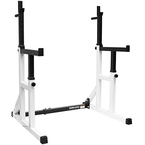 Hardcastle Bodybuilding - Kniebeugenständer mit Sicherheitsablage und Dip-Barren - verstellbar