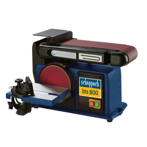 Scheppach Bandschleifer und Tellerschleifer bts 800, 230V, vielseitige Schleifmaschine mit Schleifzeug K80, Art.-Nr. 4903302901