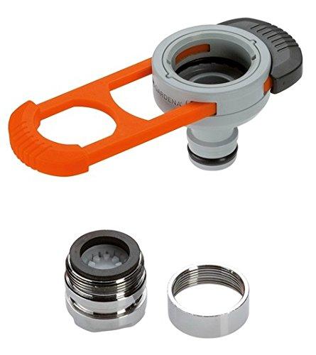 GARDENA Adapter für Indoor-Wasserhähne: Praktischer Adapter zum Anschluss des GARDENA Systems an einen Wasserhahn mit M 22 x 1 Außen- und M 24 x 1 Innengewinde (8187-20)