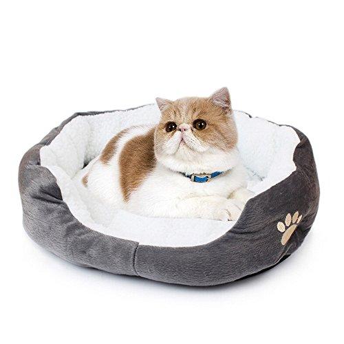 Saflyse Schöne Tierbett Hundebett Haustier Katzenbett Hundesofa Katzensofa (grau)