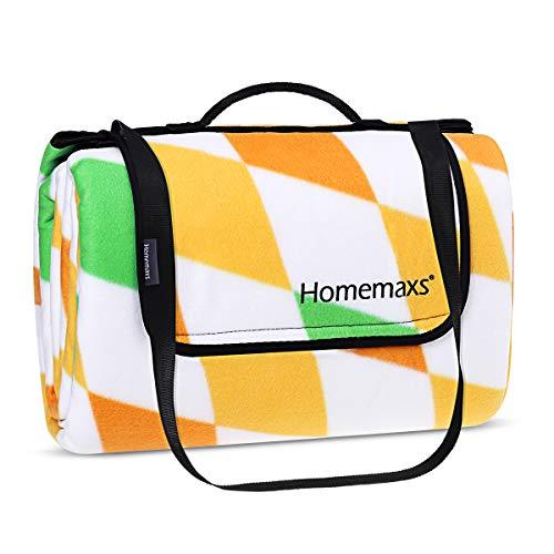Homemaxs Picknickdecke 200x200 cm Wasserdicht und Tragbar Extra Große Faltbare Outdoor-Decke für Reise Camping (2019 Style)
