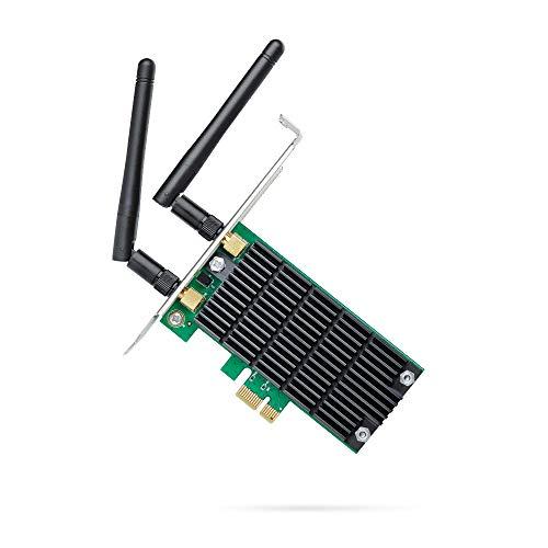 TP-Link Archer T4E WLAN interne PCI-E Netzwerk Karte AC1200 mit 2x2 MIMO und Beamforming (867MBit/s auf 5GHz, 300MBit/s auf 2,4GHz, 802.11ac/a/b/g/n, geeignet für Windows 10/8.x/7/X)