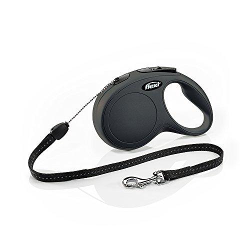 Flexi Roll-Leine New Classic S Seil 8 m schwarz für Hunde bis max. 12 kg
