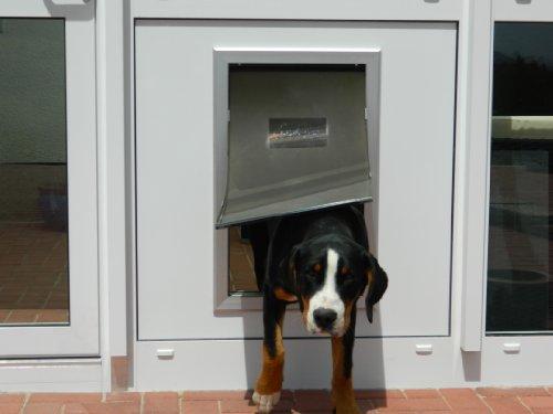 DD9XL-Pro, isolierte Hundeklappe mit Doppeltürtechnik gegen Zugluft und Kälte