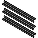 com-four 3X Zugluftstopper mit Doppeldichtung, bis 86 cm Länge individuell zuschneidbar, Türbodendichtung in schwarz für Isolierung und Schutz vor Zugluft und Lärm (003 Stück)