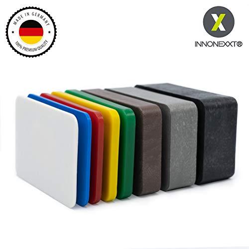 INNONEXXT Premium Unterlegplatten | 60 x 40 mm, 160 Stück | Made in Germany | Abstandshalter, Plättchen aus Kunststoff | Tragfähigkeit bis 16 t | im Set: 1.5, 2, 3, 4, 5, 10, 15, 20 mm
