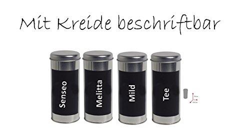 Kaffeepaddose 18 Pads - Neu beschriftbar mit Kreide 4er Set