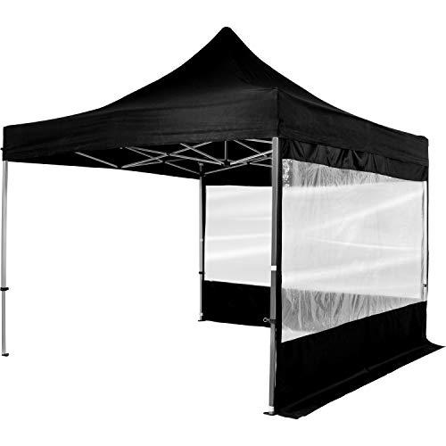 INSTENT Premium Pavillon, Faltpavillon 3x3m, WASSERDICHT (Din ISO Zertifiziert), Auswahl: Seitenteile + Farbe + Standsicherung, EV1 Aluminium, versiegelte Nähte, Weiß Champagner Blau Grün Rot Schwarz