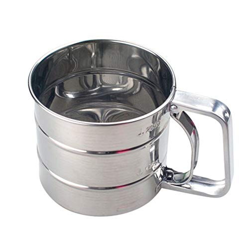 Gutyan Hand Backen Kuchen Werkzeug Edelstahl Mechanische Backen Puderzucker Shaker Sieb Tasse Mesh Pulver Mehl Sieb Zubehör