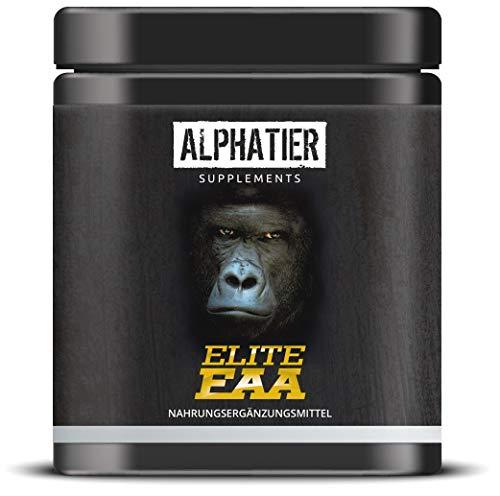 ALPHATIER ELITE EAA Kapseln - 360 Mega Caps à 750mg - hochdosiert - 8 essentielle Aminosäuren - EAAs ohne Magnesiumstearat - Aminosäure Supplement hergestellt in Deutschland