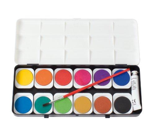 EBERHARD FABER 578112 Deckfarbkasten EFA Color, 12 Farben