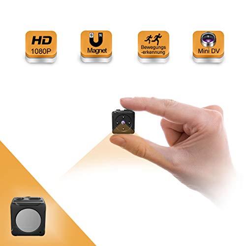 MiniKamera,MHDYTHD1080PSuperKleineNannyCam, TragbareMikroÜberwachungskameramitBewegungsmelderundInfrarotNachtsicht, CompactAkkuKameras für InnenundAussen