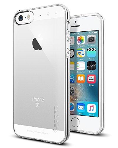 iPhone SE Hülle, Spigen iPhone 5S/5/SE Hülle [Liquid Air] Soft Flex Transparent Silikon TPU Capsule Air Cushion Handyhülle Schutzhülle für iPhone 5S/5, iPhone SE Case Cover - Crystal Clear (041CS20247)