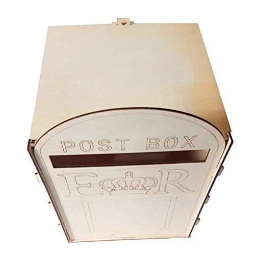 Fenteer Natur Holzbriefkasten Briefbox Postkasten Mailbox Haus Deko