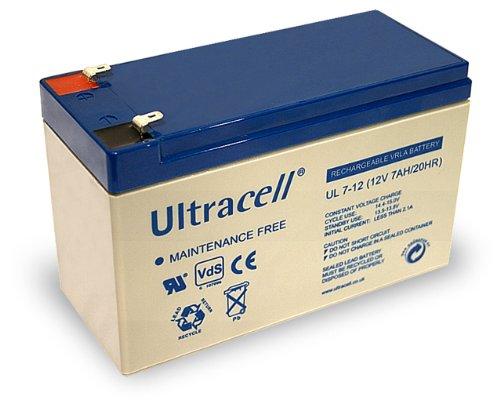 Wentronic Blei-Akku (Ultracell) 12 V, 7 Ah (Faston 187-4,8mm )