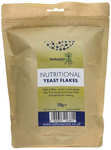 Natures Root Hefeflocken 250g - Vegan | Glutenfrei | Salzfrei | Vitaminreiche | Beste Verkostung