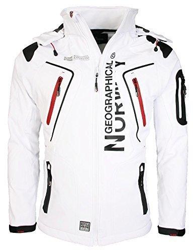 11C3 Geographical Norway Tambour Herren Softshell Jacke Outdoor Weiß S
